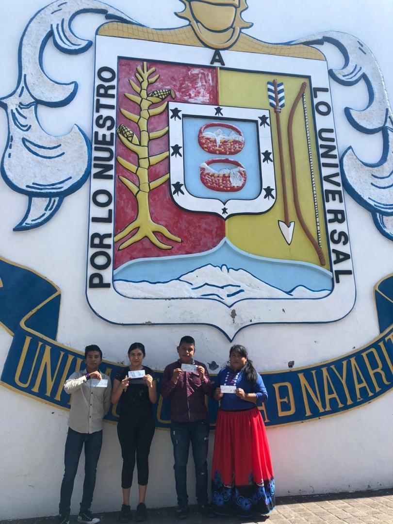 Scholarship recipients, Autonomous University of Nayarit/Becarios, Universidad Autónoma de Nayarit
