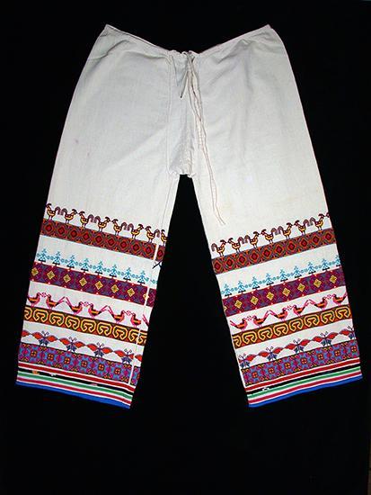 Man's embroidered pants, xaweruxi.