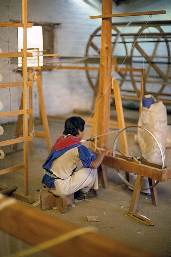 Taller de telares en la comunidad de Tuapurie