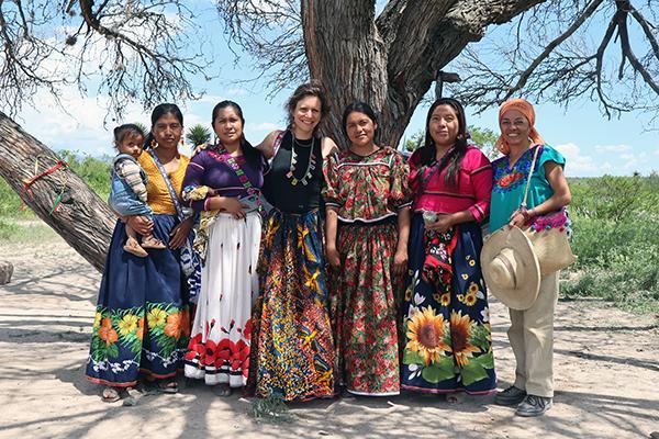 Diana Negrín and the women participants in the Ecoforestry Project in Wirikuta ~ Photo ©Carlos Carrillo López