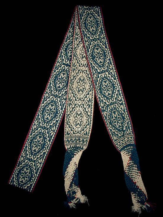 Man's woven indigo belt - Photograph ©Yvonne Negrín 2002-2018