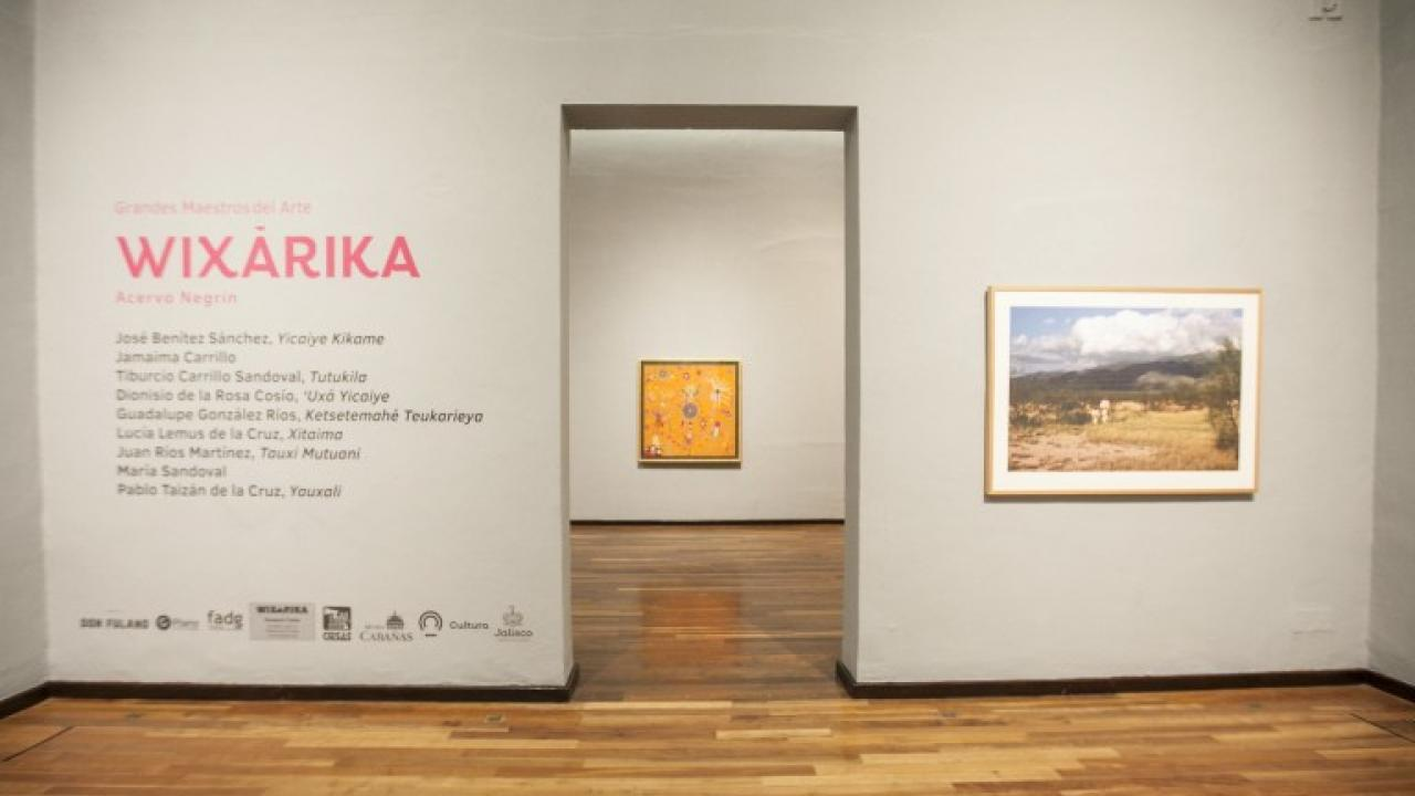 Entrada de la exposición Grandes maestros del arte wixárika, acervo Negrín