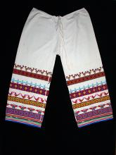 Man's embroidered pants, xaweruxi.