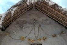 Detail of Kauyumarie's xiriki at the ceremonial center of Keuruwiitüa