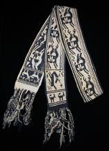 Man's woven belt, huayame - Photograph ©Yvonne Negrín