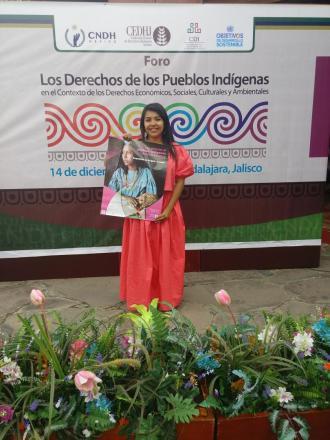 Bianca America, estudiante del ciclo 2019 - 2020