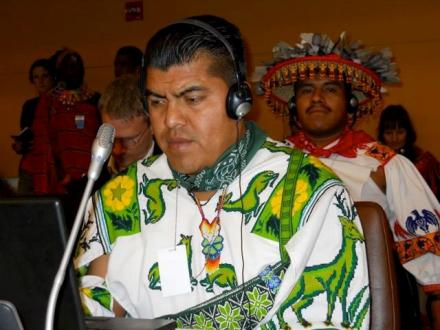Santos de la Cruz and Filipe Serio at the UN Forum on Indigenous Peoples
