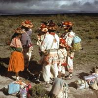 Pilgrims stop to pray in Wirikuta. Photo by Juan Negrín, 1979.