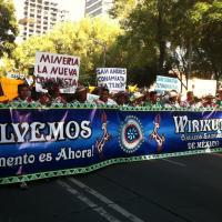 March in Mexico City to Los Pinos – Photo ©Gerardo Smith 2011